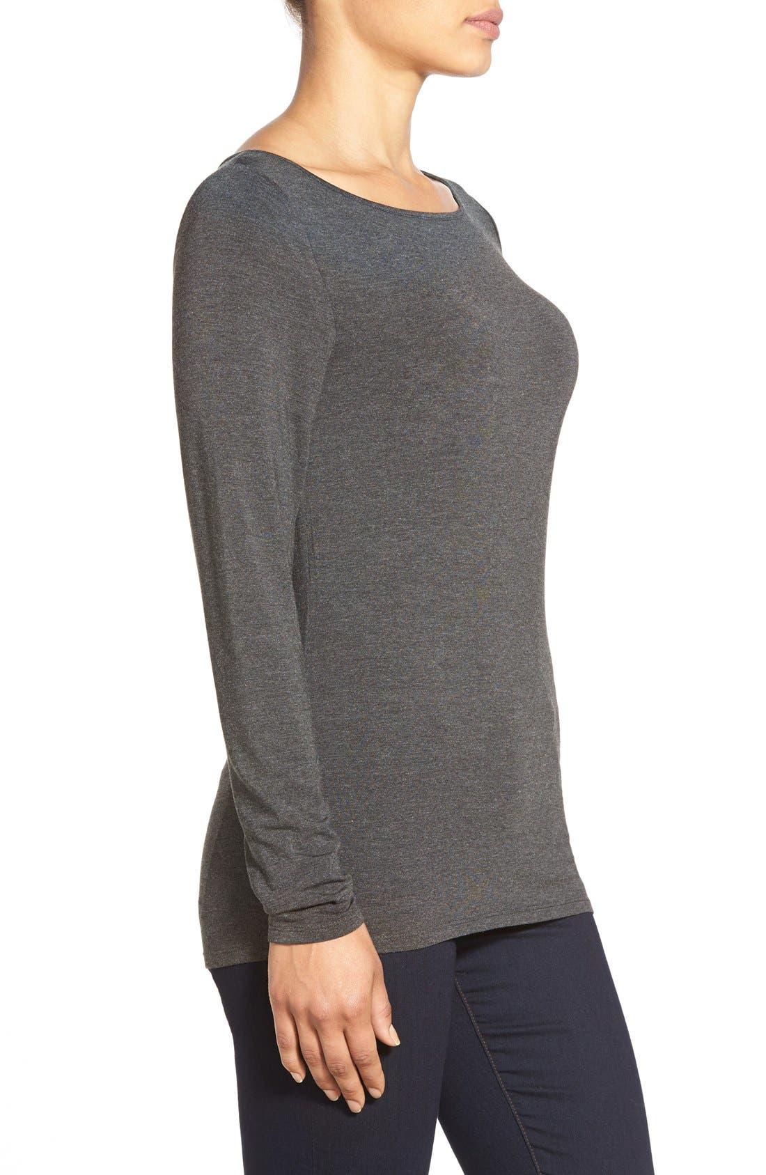 Alternate Image 3  - Nordstrom Collection Modal Blend Jersey Top