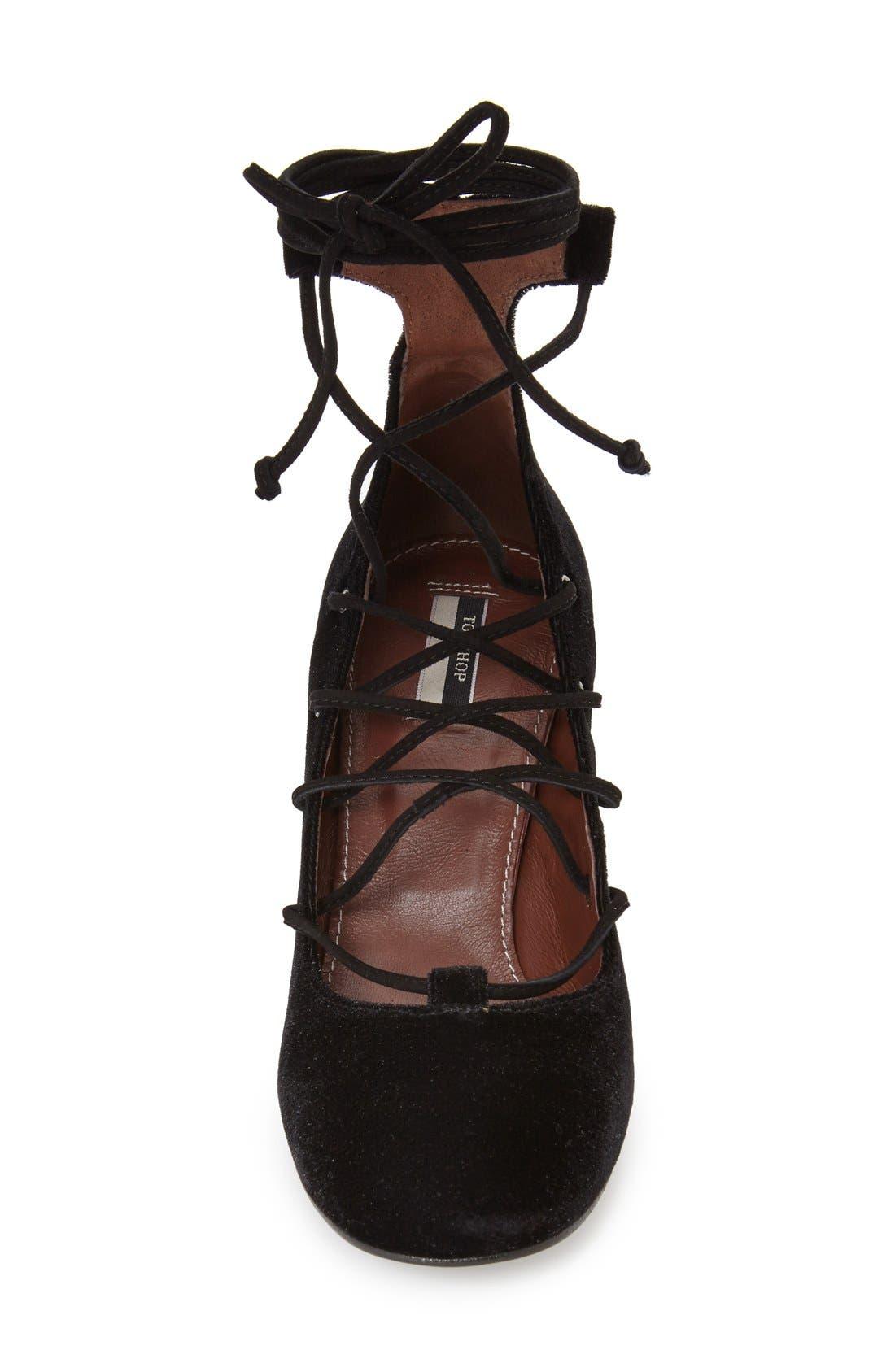 Alternate Image 3  - Topshop'Prize Tie' Ghillie Pump (Women)