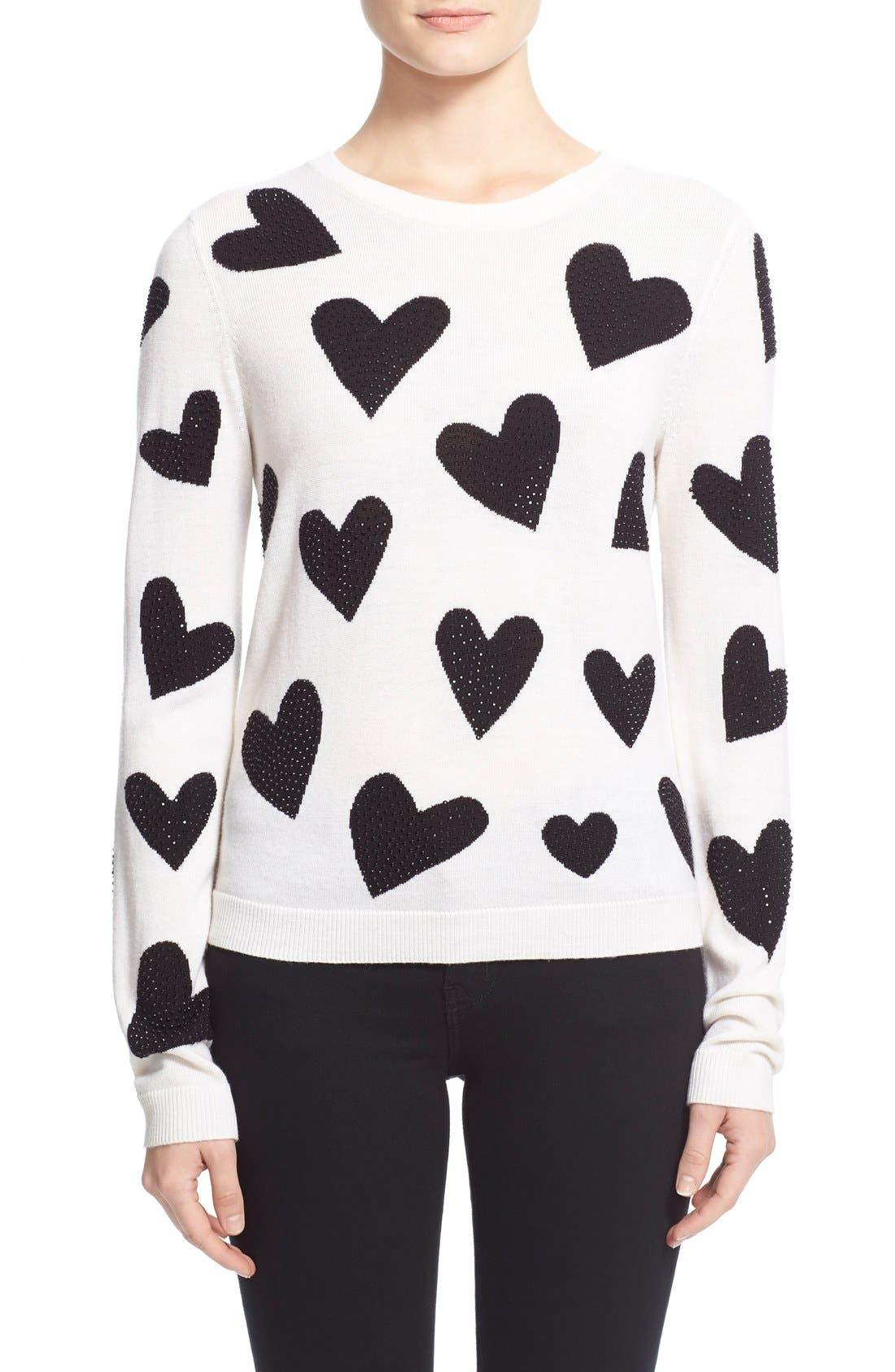 Main Image - Alice + Olivia 'Carey' Embellished Sweater