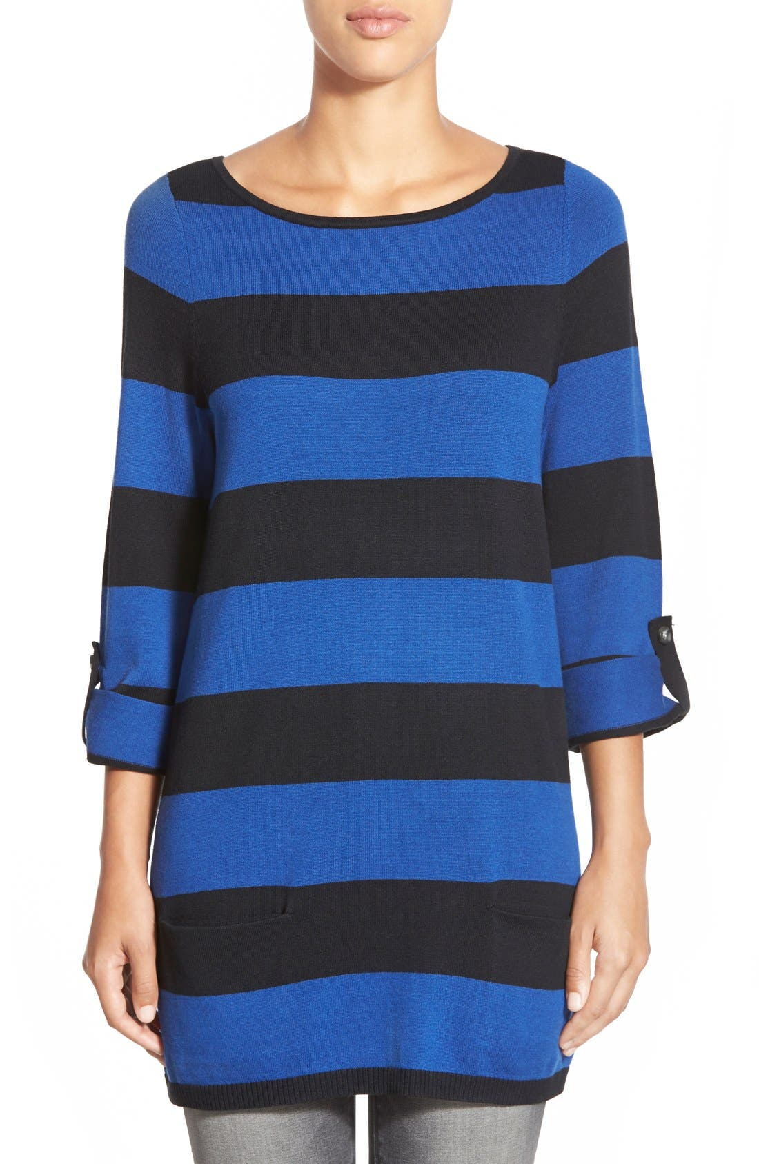 Alternate Image 1 Selected - Caslon® Knit Tunic (Regular & Petite)