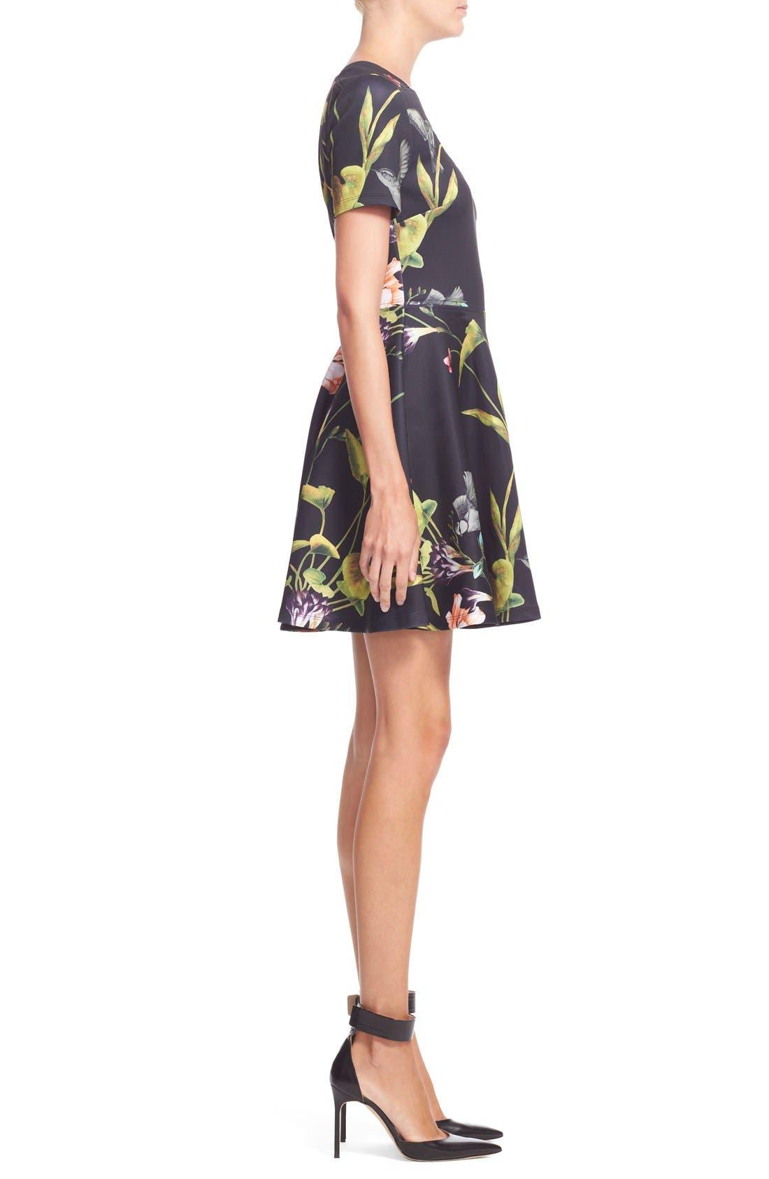 Alternate Image 3  - Ted Baker London 'Moven' Floral PrintSkater Dress