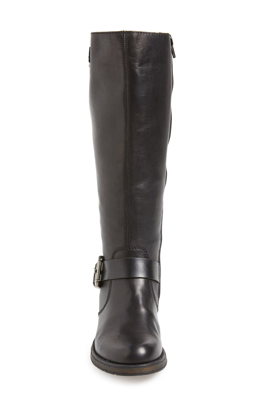 RiekerAntistress 'Faith 80' Tall Boot,                             Alternate thumbnail 3, color,                             Black Leather