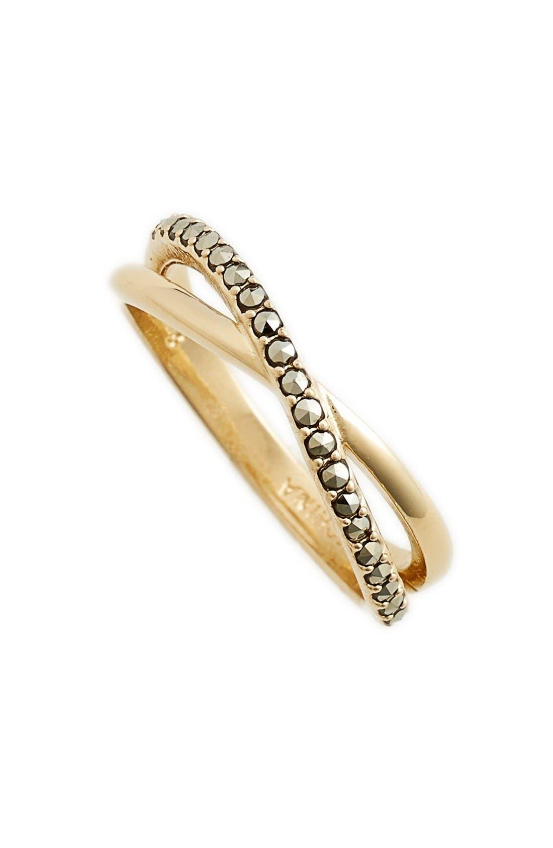 Crisscross Ring,                         Main,                         color, Gold