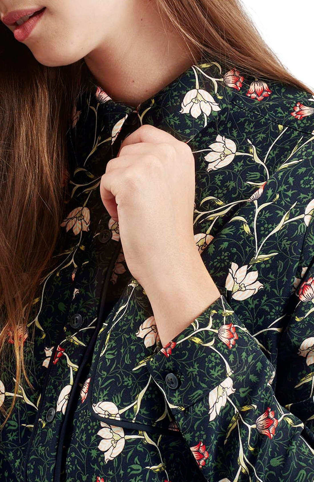 Alternate Image 5  - Topshop Floral Print Boxy Shirt