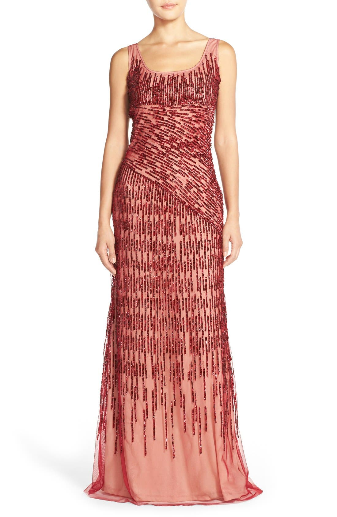 Alternate Image 1 Selected - Adrianna PapellSequin Mesh Gown
