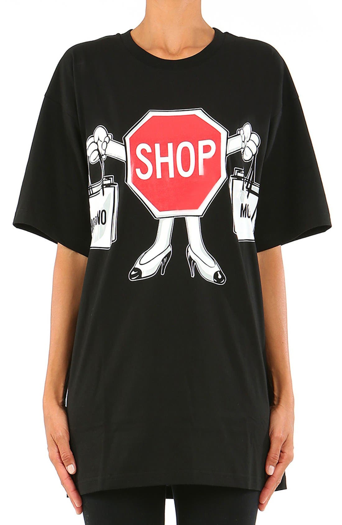 Alternate Image 1 Selected - Moschino'1st Story' Short Sleeve Graphic Tee