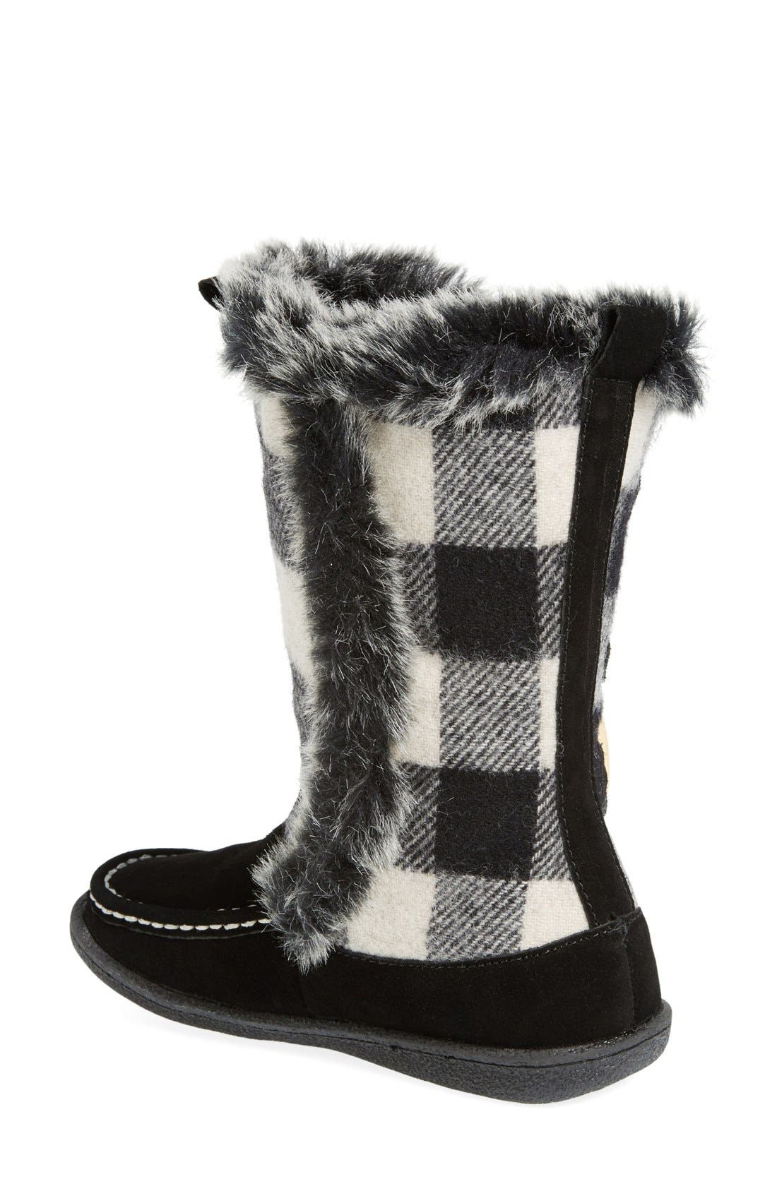'Elk Creek' Boot,                             Alternate thumbnail 2, color,                             Black/ Buffalo Wool