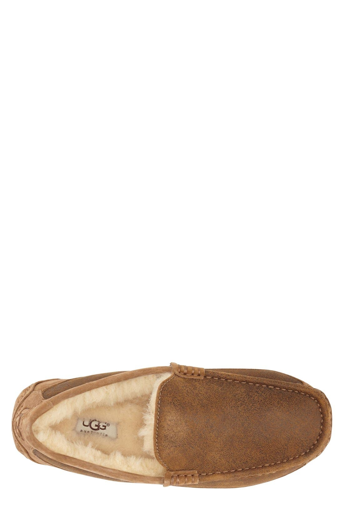 Ascot Bomber Slipper,                             Alternate thumbnail 3, color,                             Bomber Jacket Chestnut