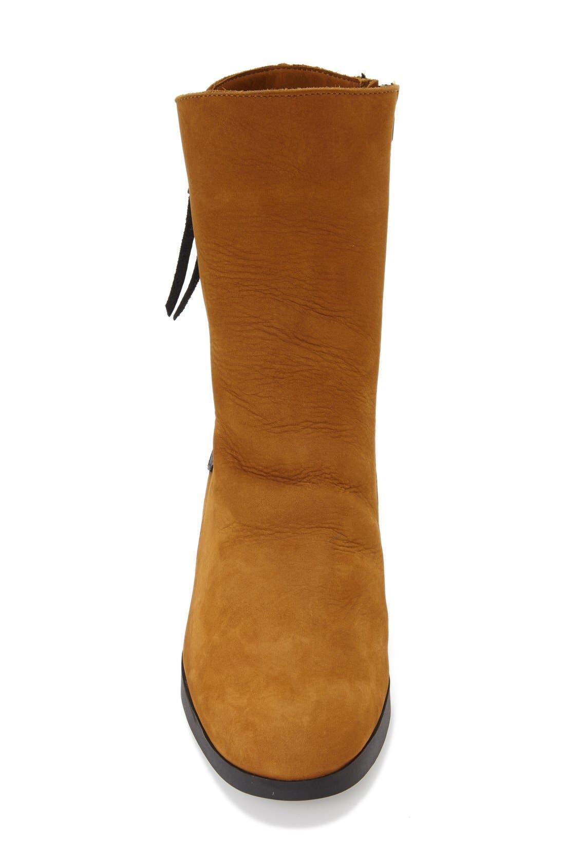 'Vitahe' Water ResistantBoot,                             Alternate thumbnail 3, color,                             Almond Nubuck Leather