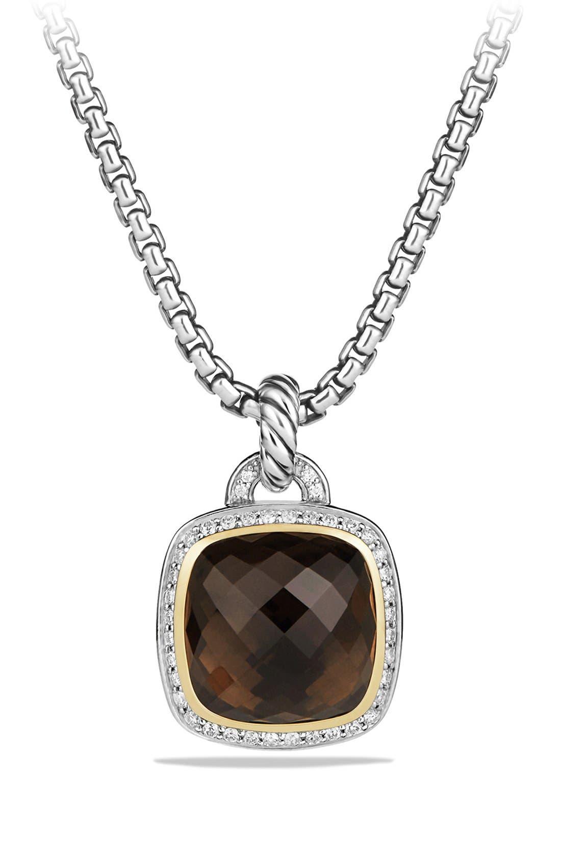 'Albion' Pendant with Diamonds and 18K Gold,                         Main,                         color, Smokey Quartz