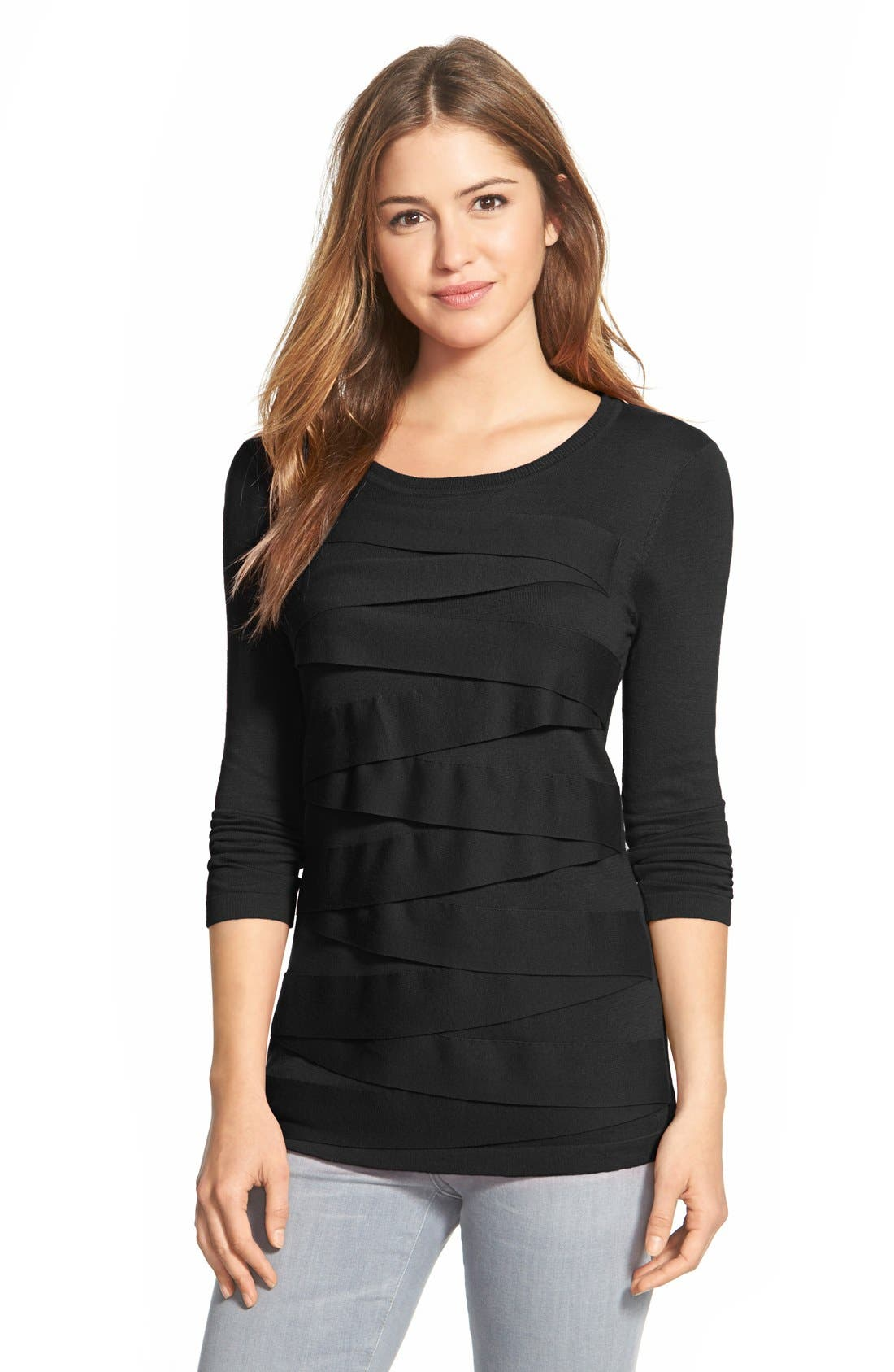 Vince Camuto Zigzag Sweater (Regular & Petite)