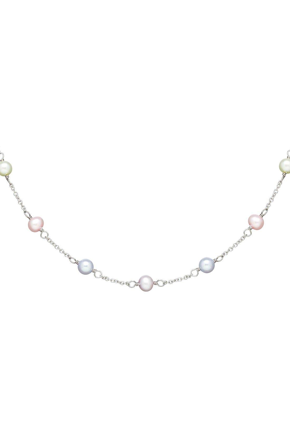 Alternate Image 2  - HONORAFreshwater Pearl Necklace (Girls)