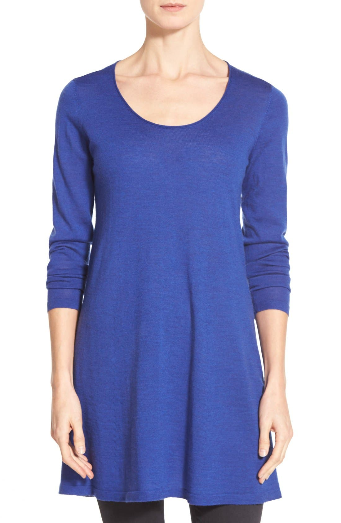 Main Image - Eileen Fisher Fine Merino Tunic (Online Only)