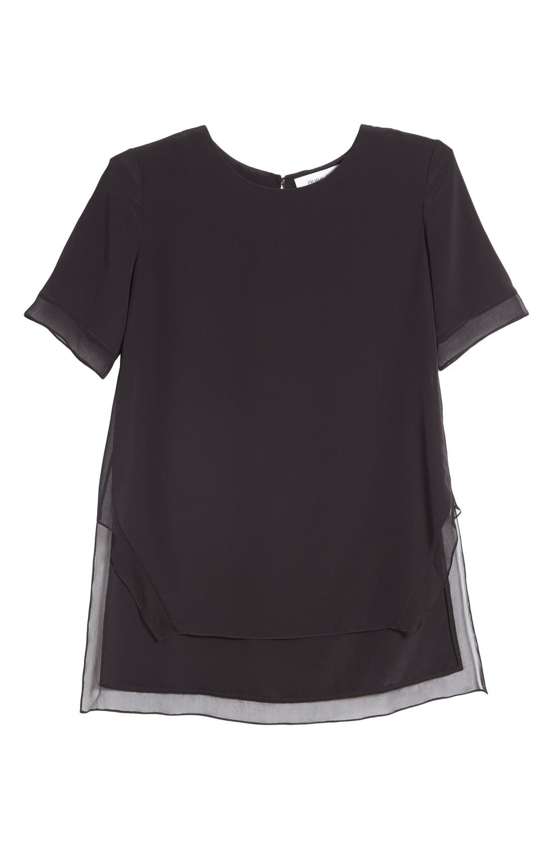 Alternate Image 4  - Prabal Gurung Short Sleeve Keyhole Silk Blouse