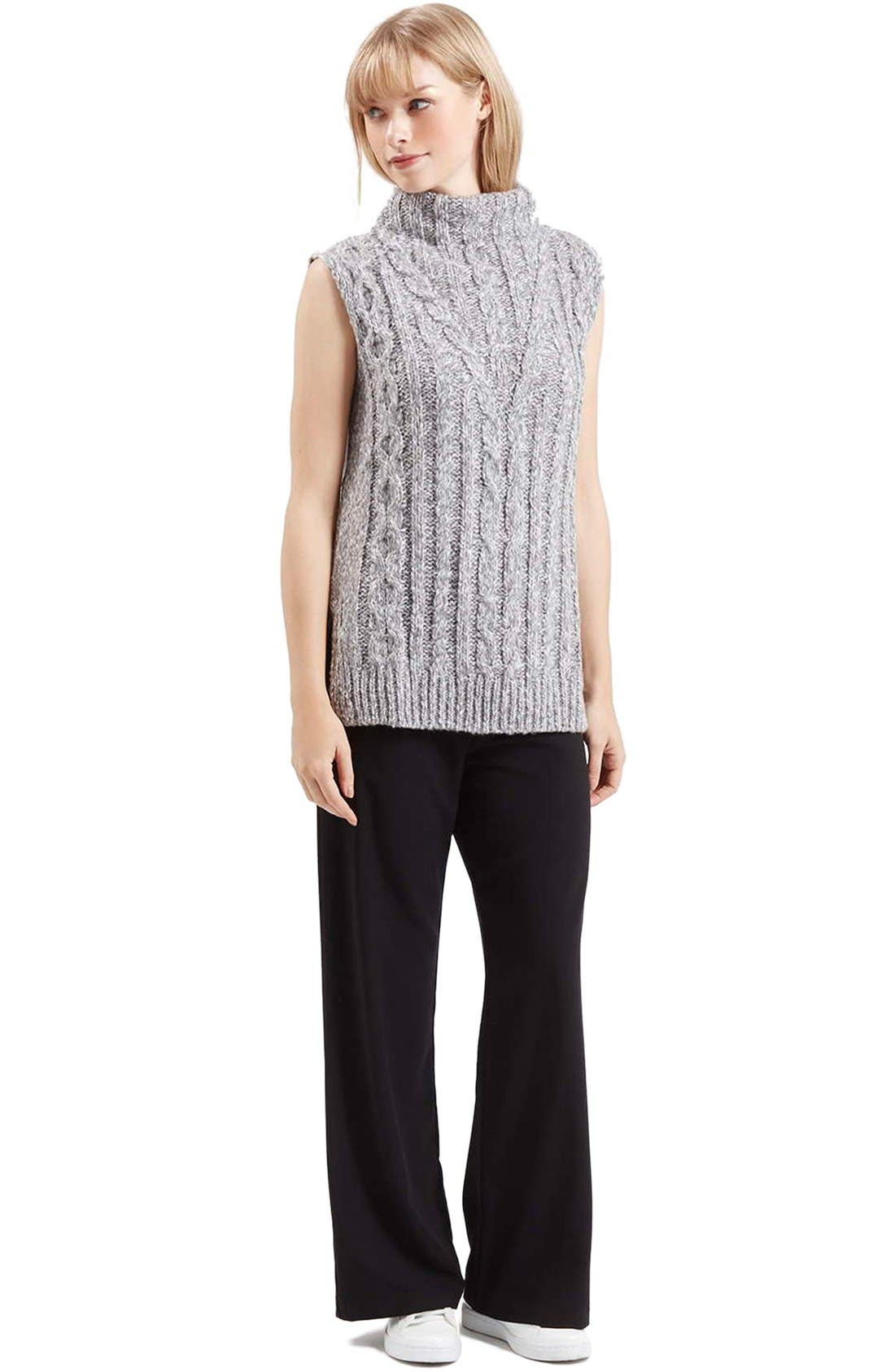 Alternate Image 2  - Topshop Cable Knit Tabard Sweater