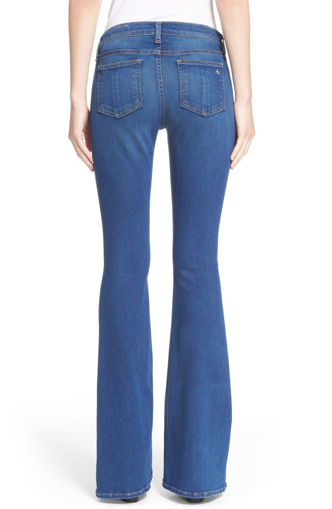 Alternate Image 2  - rag & bone/JEAN Bell Bottom Jeans (Houston)
