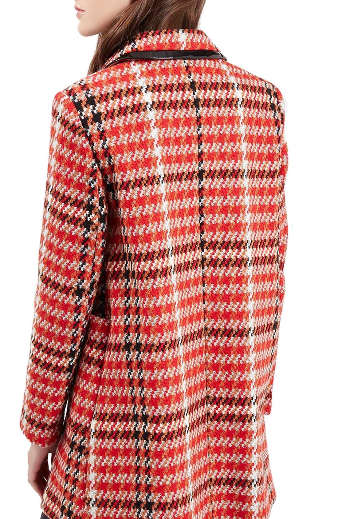 Alternate Image 3  - Topshop Check Double Breasted Coat