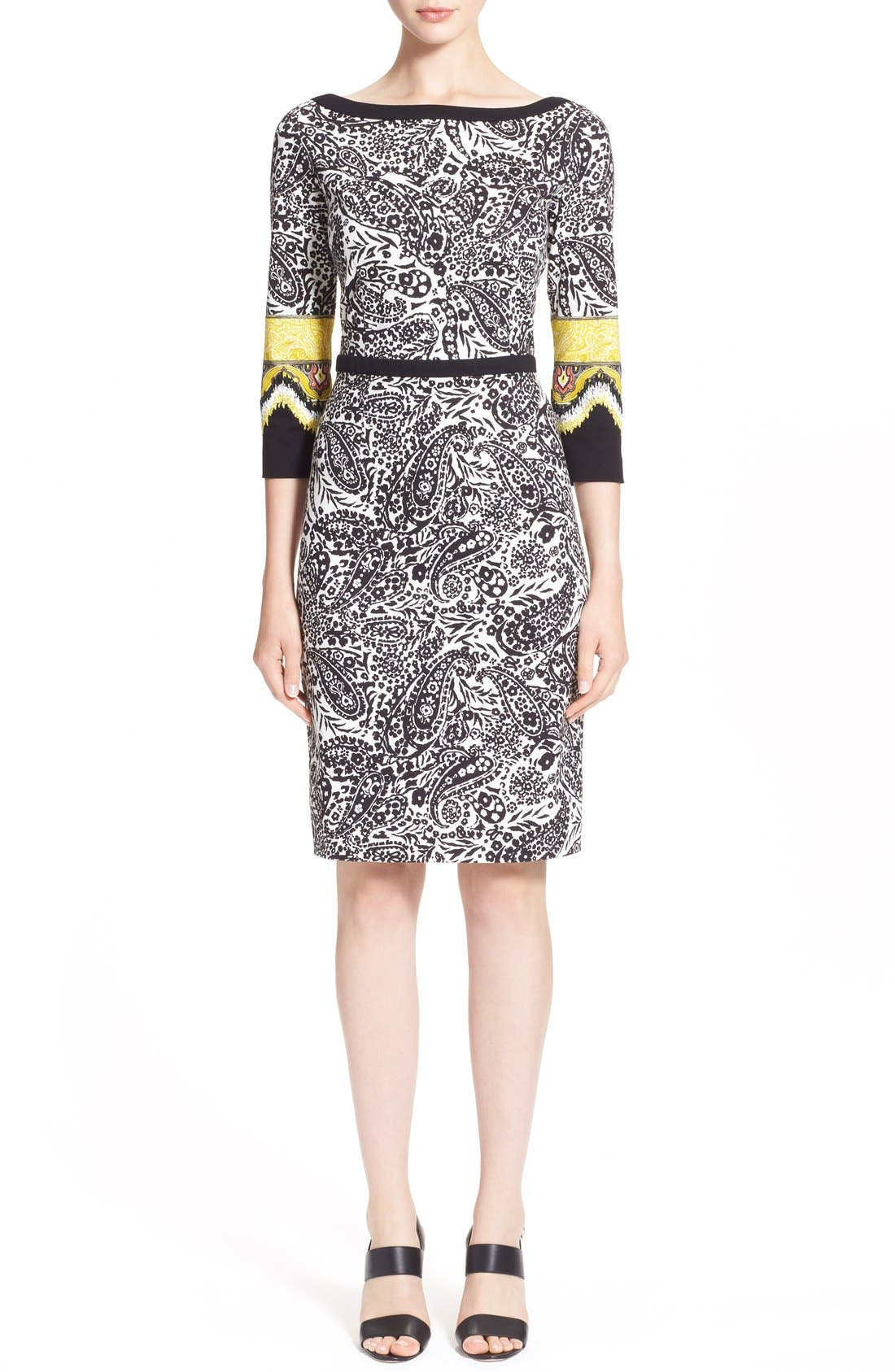 Main Image - Etro Paisley Print Stretch Jersey Dress
