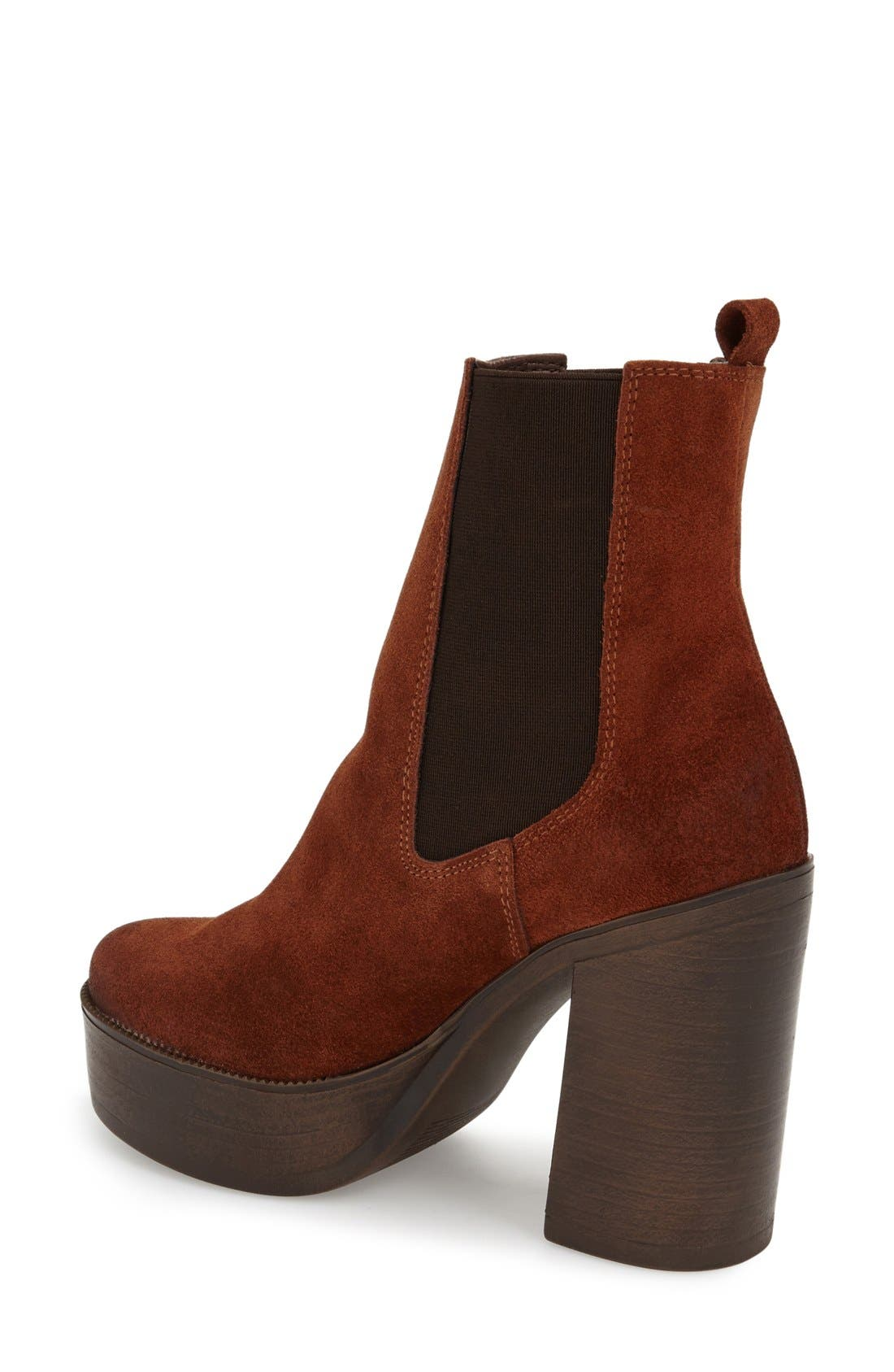 Alternate Image 2  - Topshop 'Holly '70s' Chunky Heel Ankle Boot (Women)