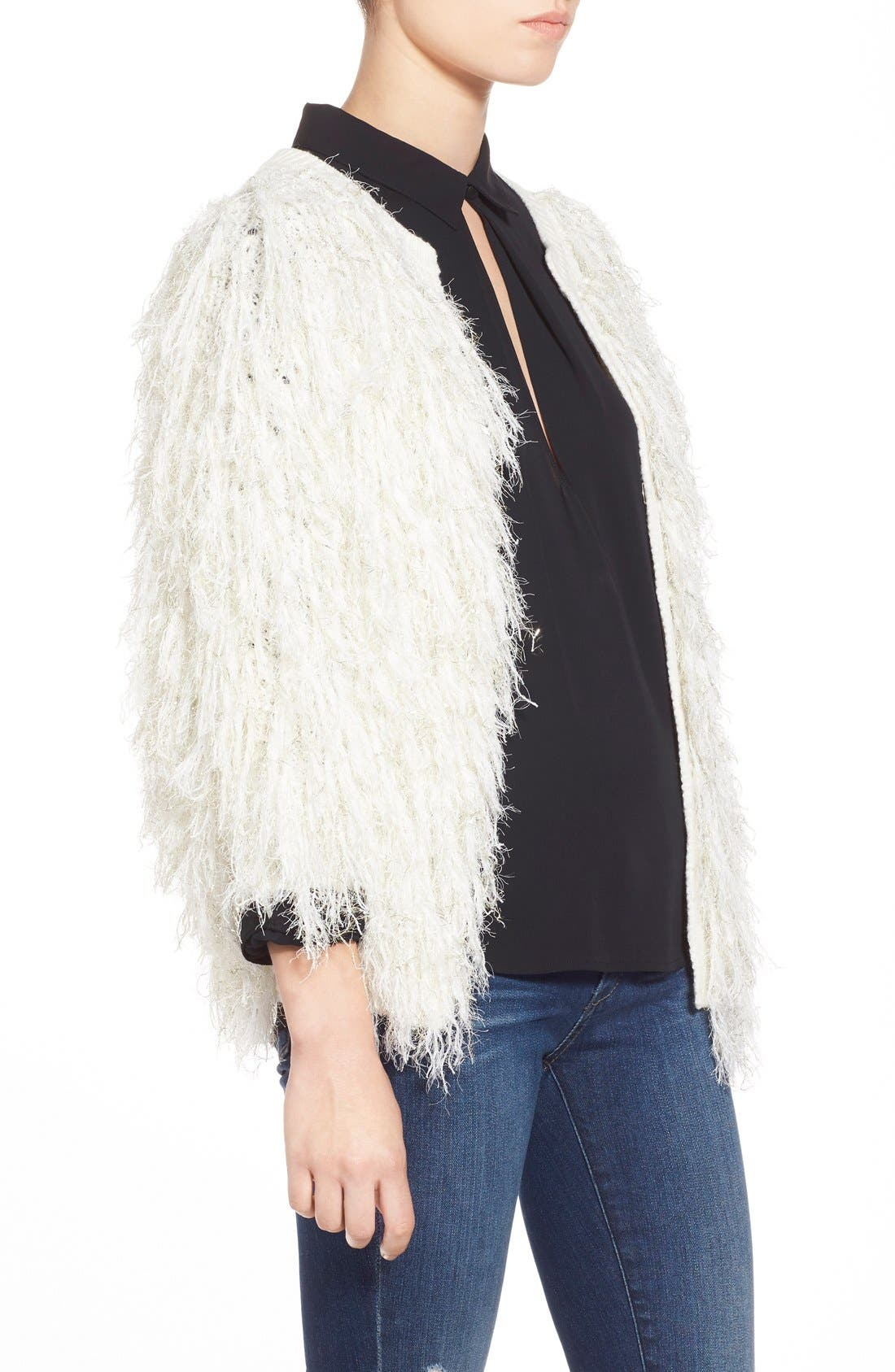 Alternate Image 3  - Leith Shaggy Open Front Cardigan