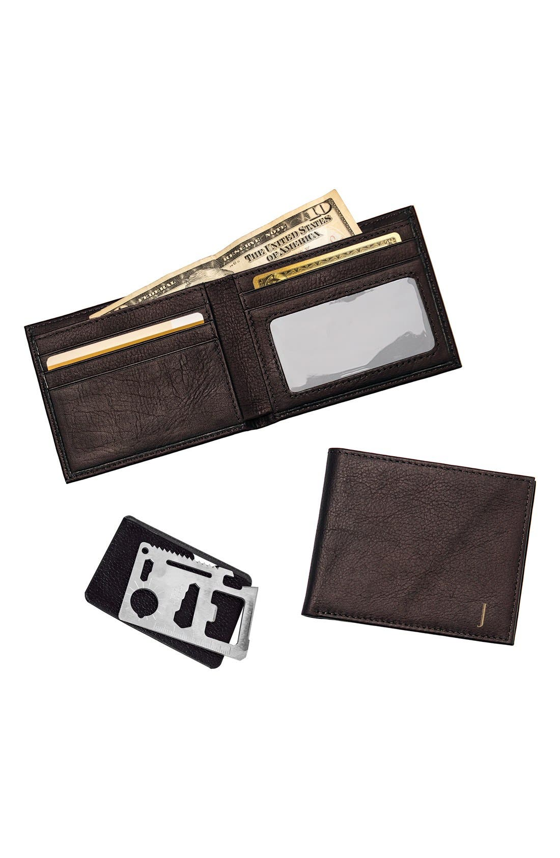 Alternate Image 2  - Cathy's Concepts Monogram Bifold Wallet