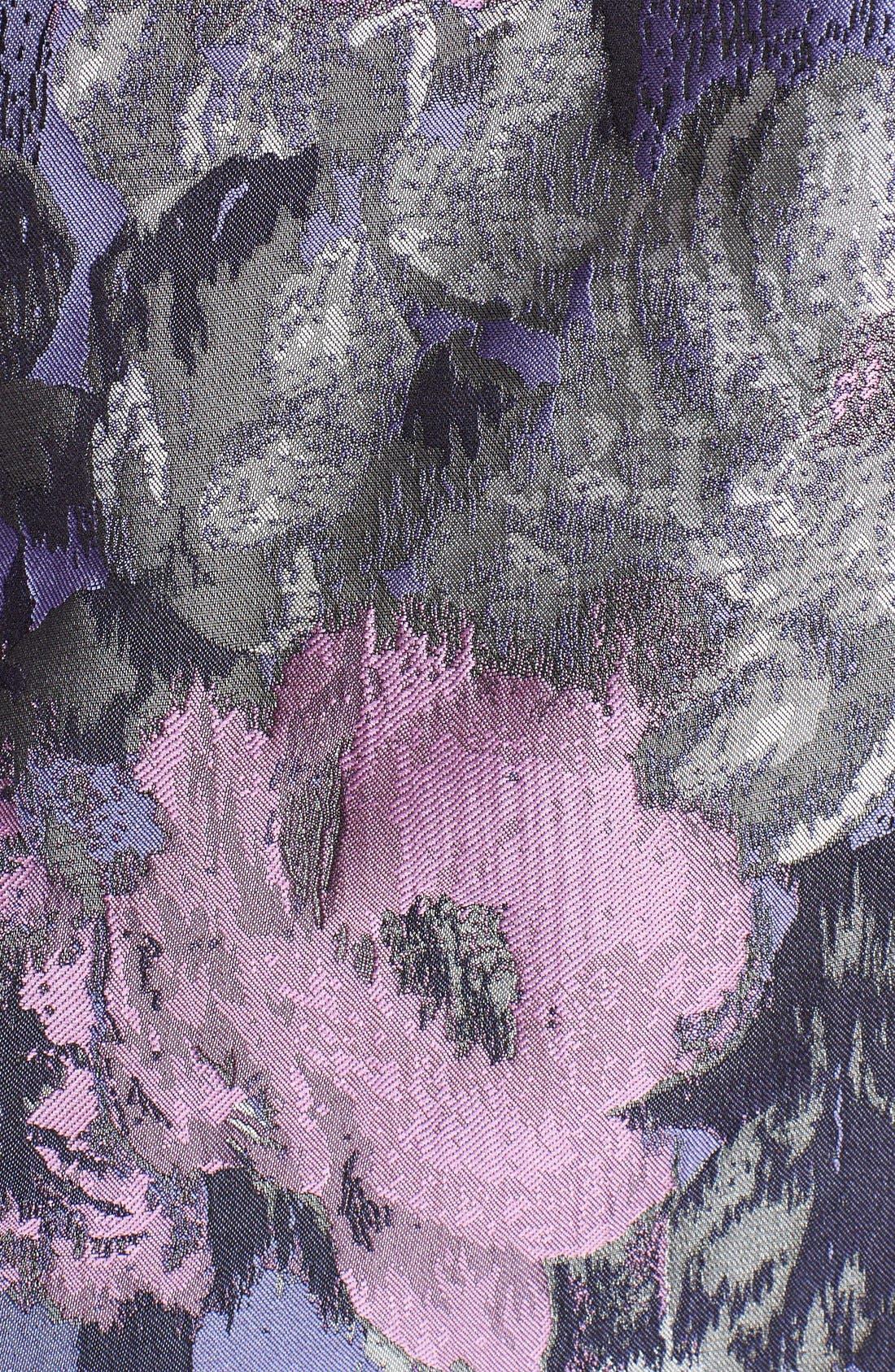 Alternate Image 5  - Eliza J Embellished Jacquard Fit & Flare Dress (Regular & Petite)