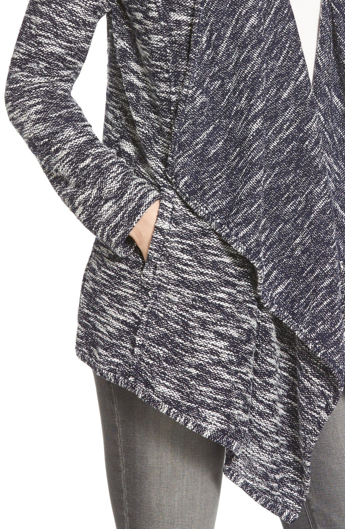Alternate Image 4  - Caslon® Drape Front Cardigan (Regular & Petite)