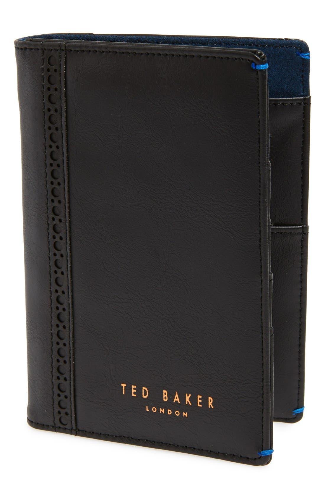 Main Image - Ted Baker London Travel Wallet & Pen