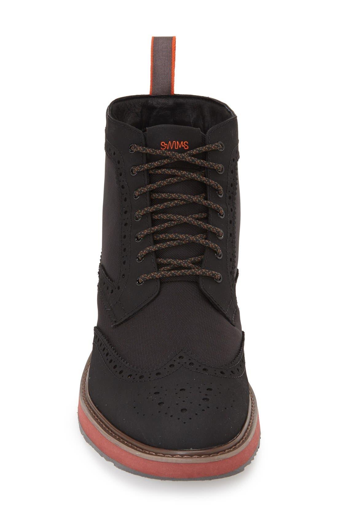 'Barry' Wingtip Boot,                             Alternate thumbnail 3, color,                             Black