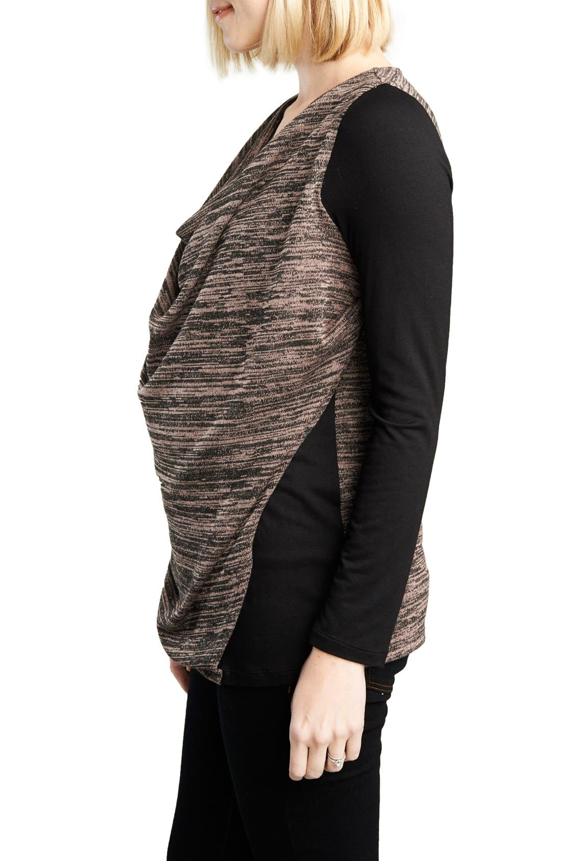 Alternate Image 3  - Maternal America Cowl Neck Nursing Top