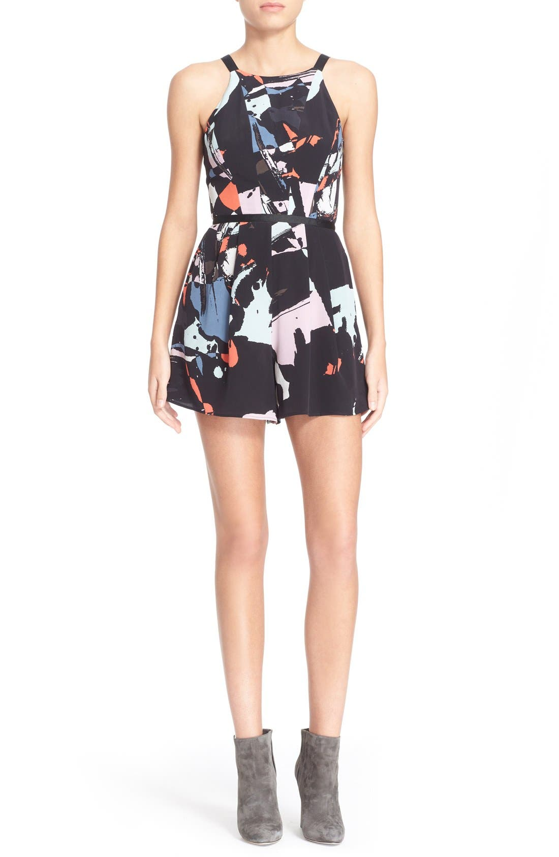 Main Image - Hunter Bell 'Maggy' Print Silk Romper