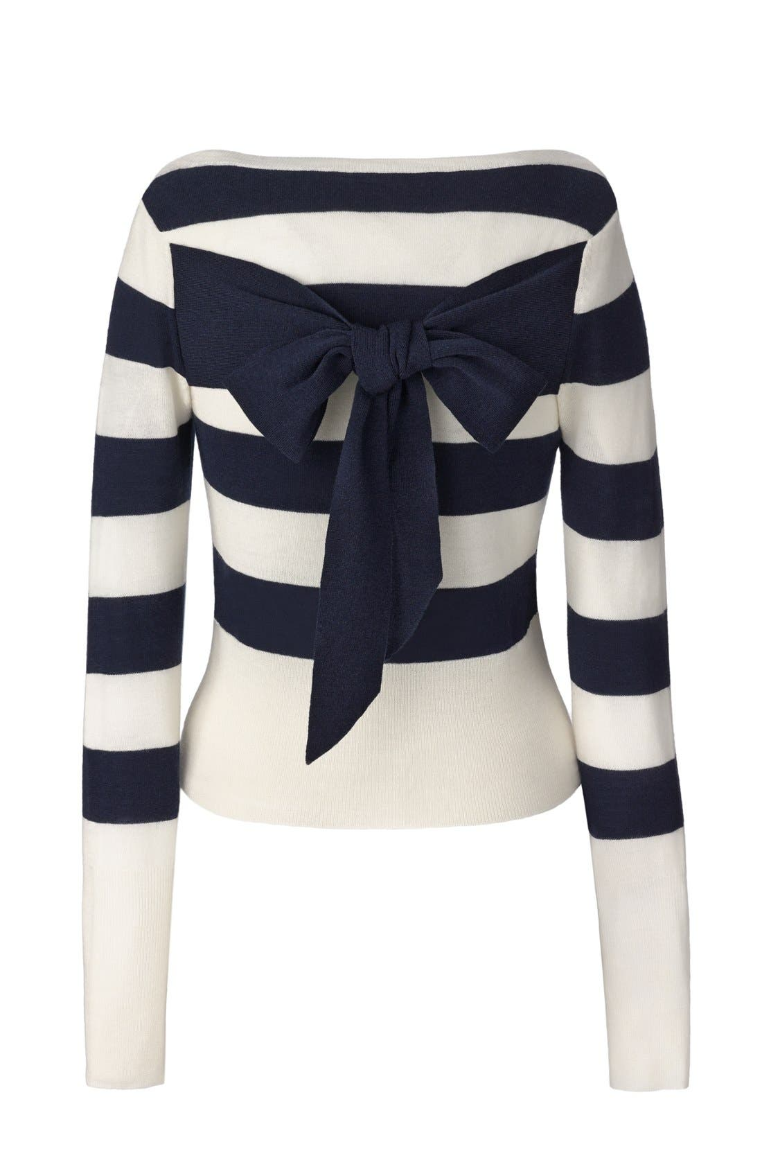 Alternate Image 6  - Olivia Palermo + Chelsea28 Stripe Wool & Cashmere Pullover