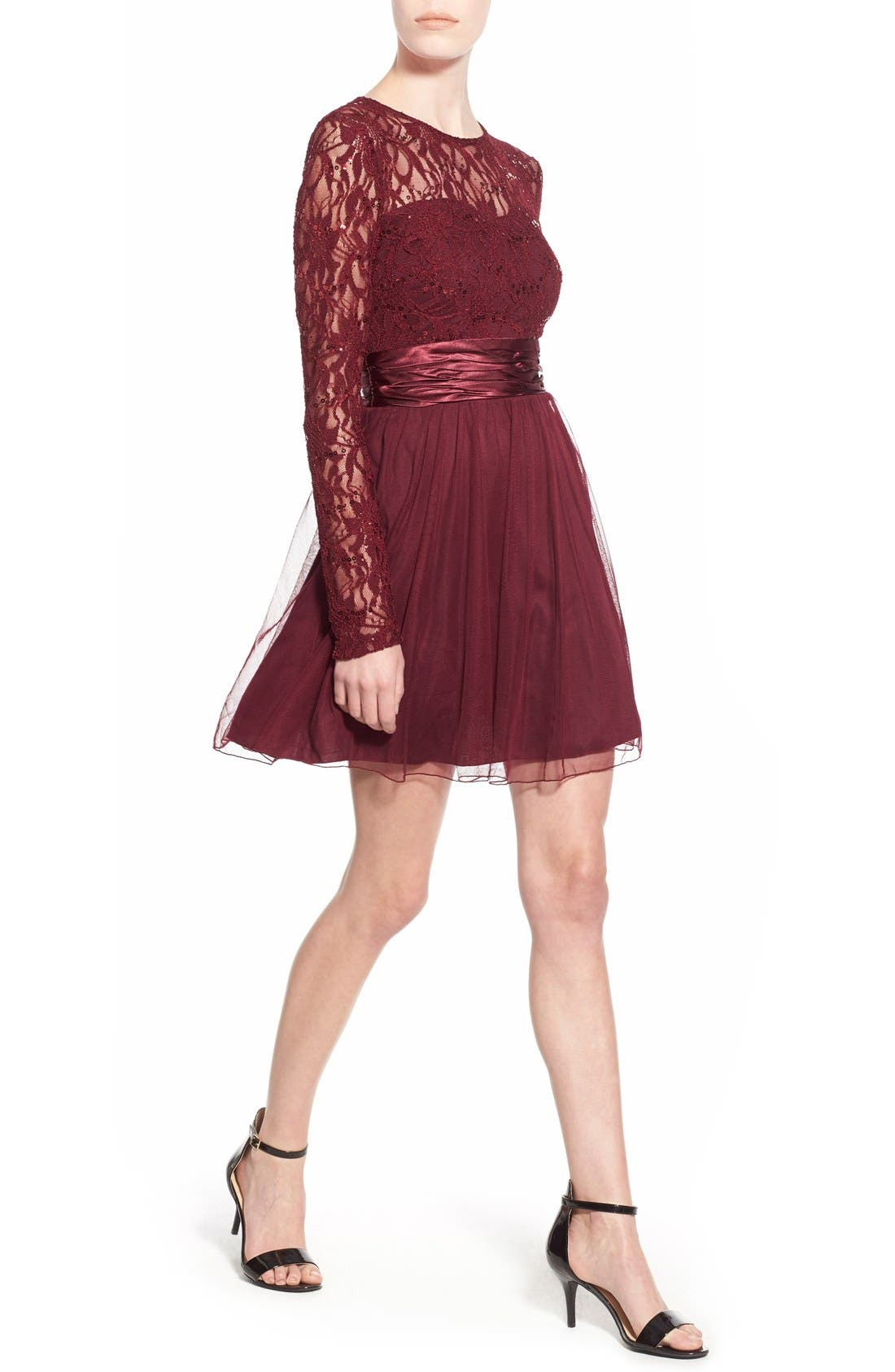 Alternate Image 4  - Speechless Lace Bodice Fit & Flare Dress