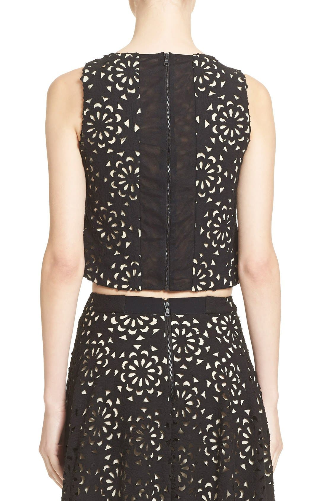Alternate Image 3  - Alice + Olivia 'Lyla' Lace V-Neck Shell
