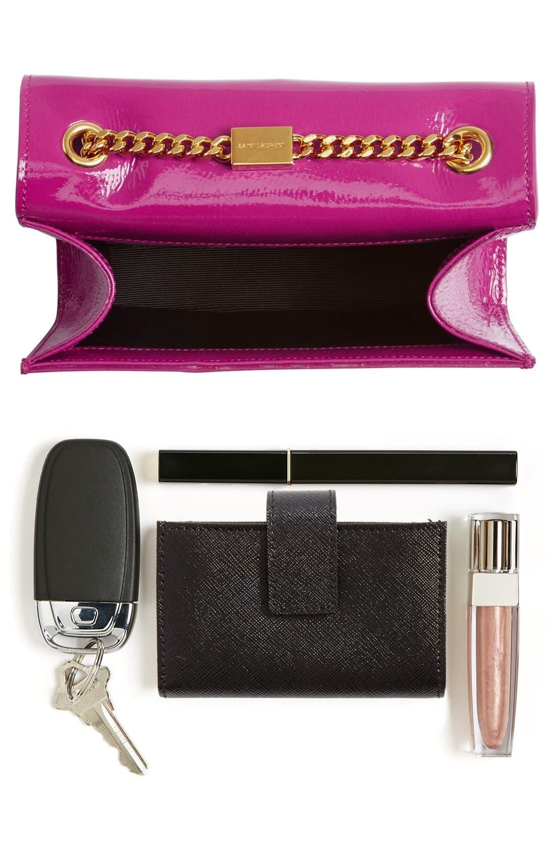 Alternate Image 7  - Saint Laurent 'Mini Monogram Vernis' Handbag