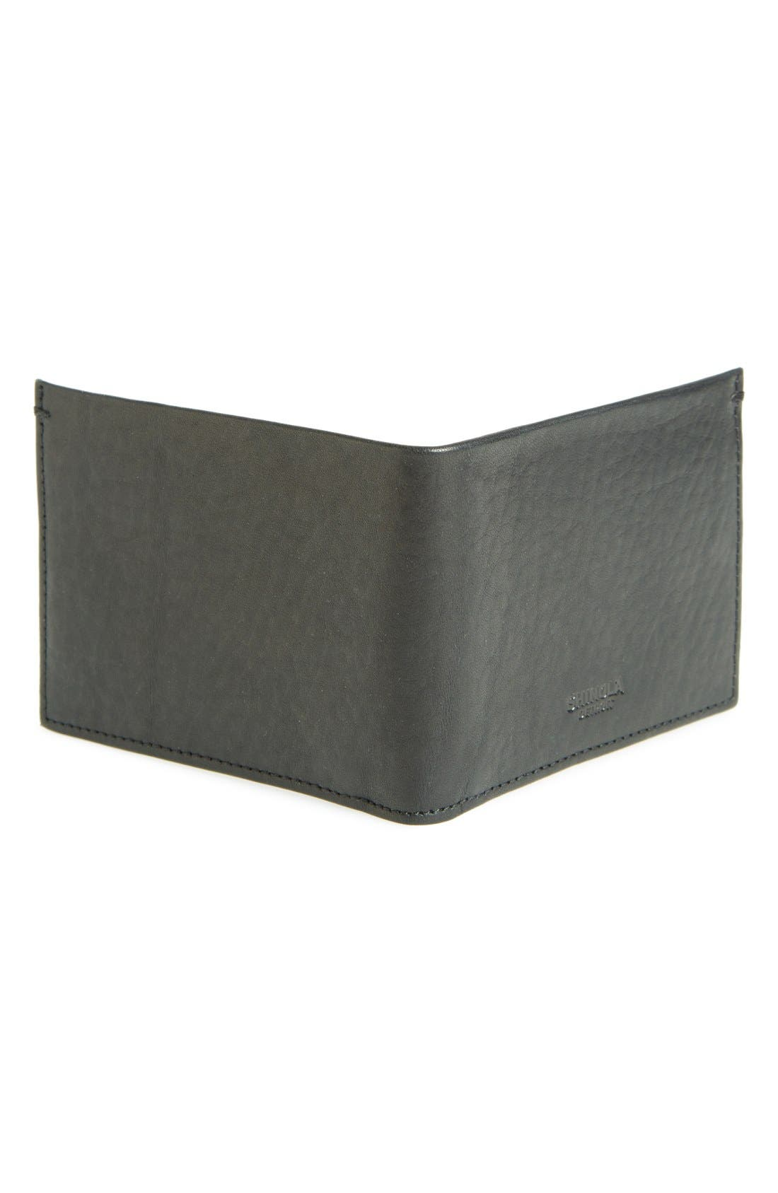 Alternate Image 3  - Shinola Slim Bifold Leather Wallet