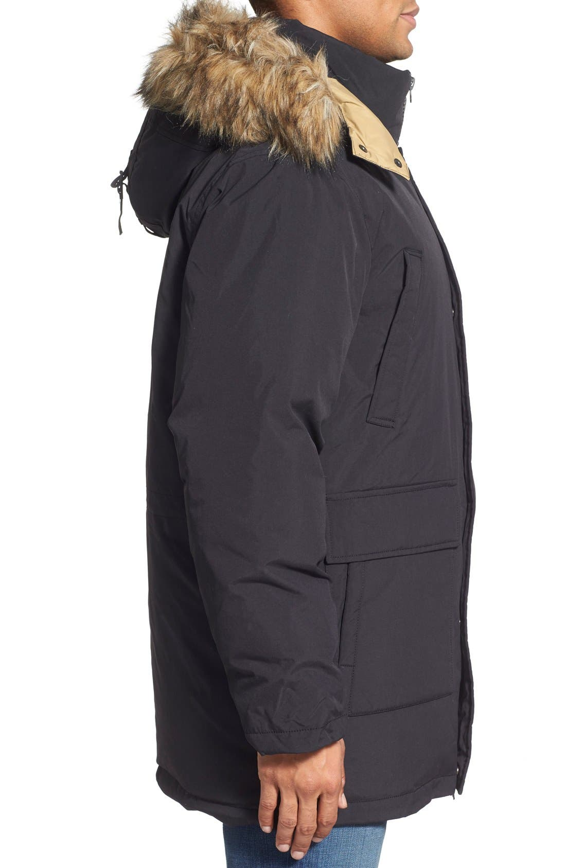 Alternate Image 3  - Schott NYC 'Iceberg' Water Resistant Down Parka with Faux Fur Trim