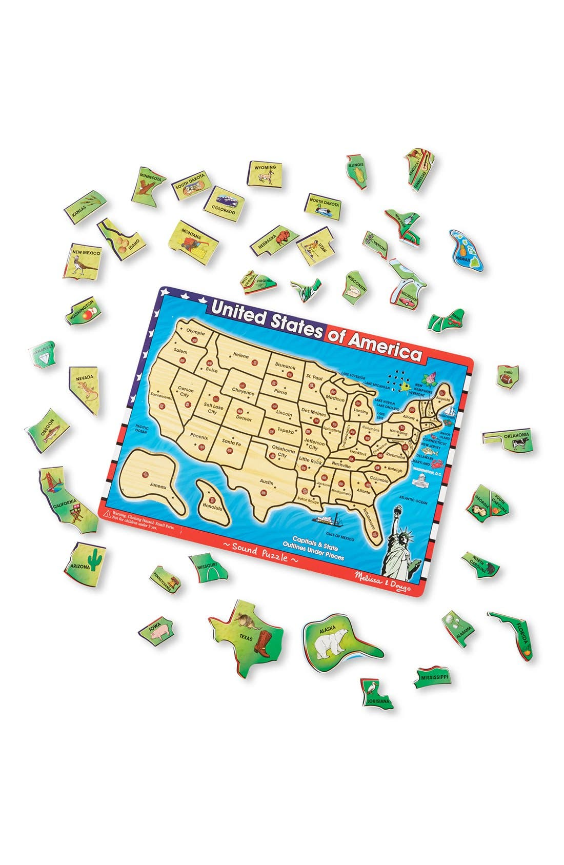Alternate Image 2  - Melissa & Doug USA Sound Puzzle