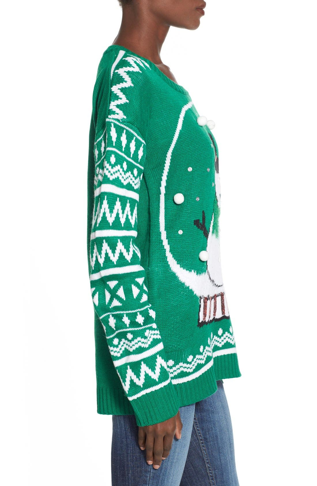 Alternate Image 3  - Derek Heart 'Snow Globe' Musical Christmas Sweater