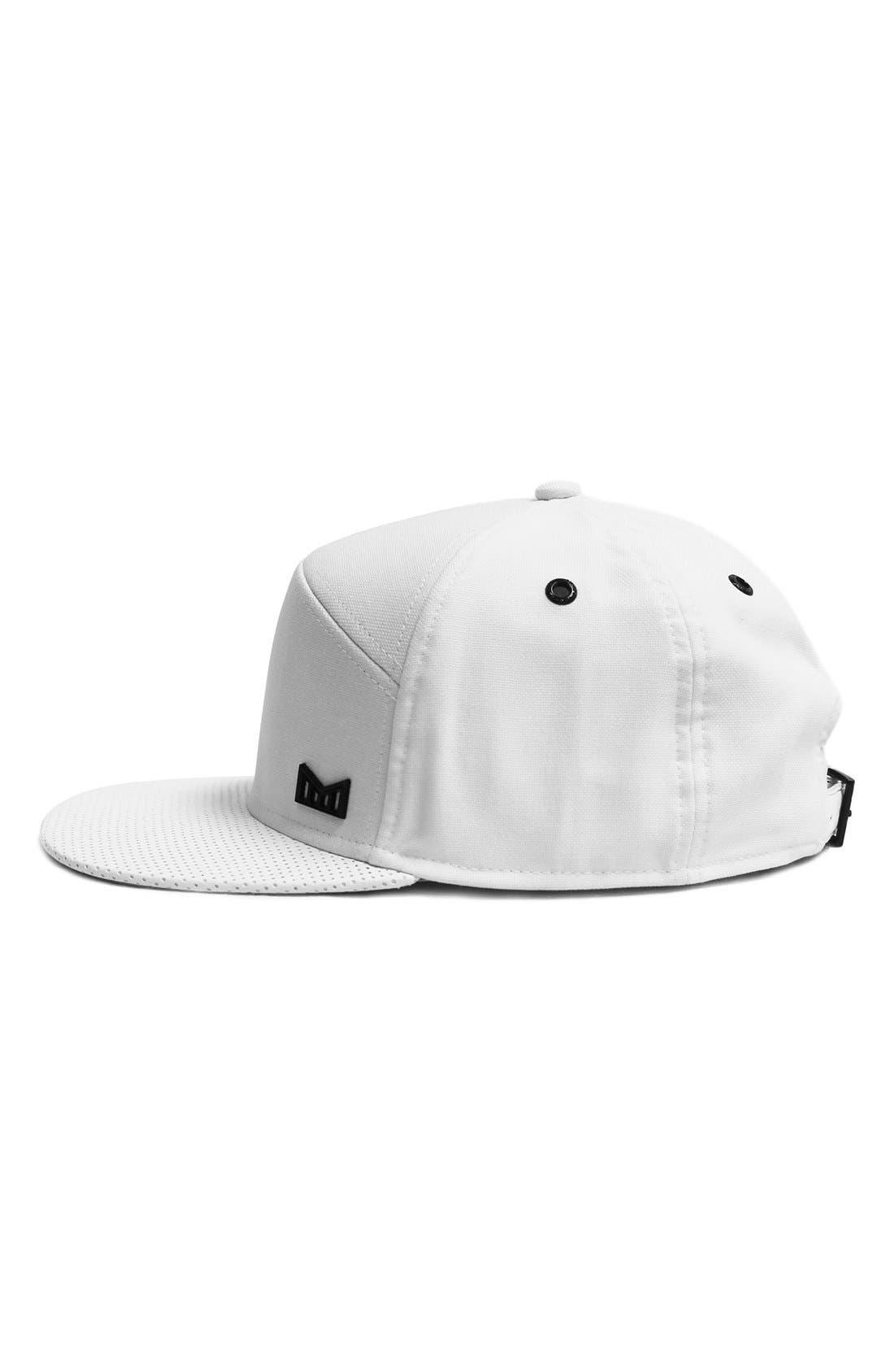 'The Vision' Horizon Fit Flat Brim Baseball Cap,                             Alternate thumbnail 3, color,                             White