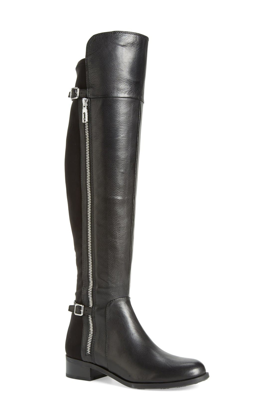 'Oliss' Over The Knee Boot,                             Main thumbnail 1, color,                             Black Leather
