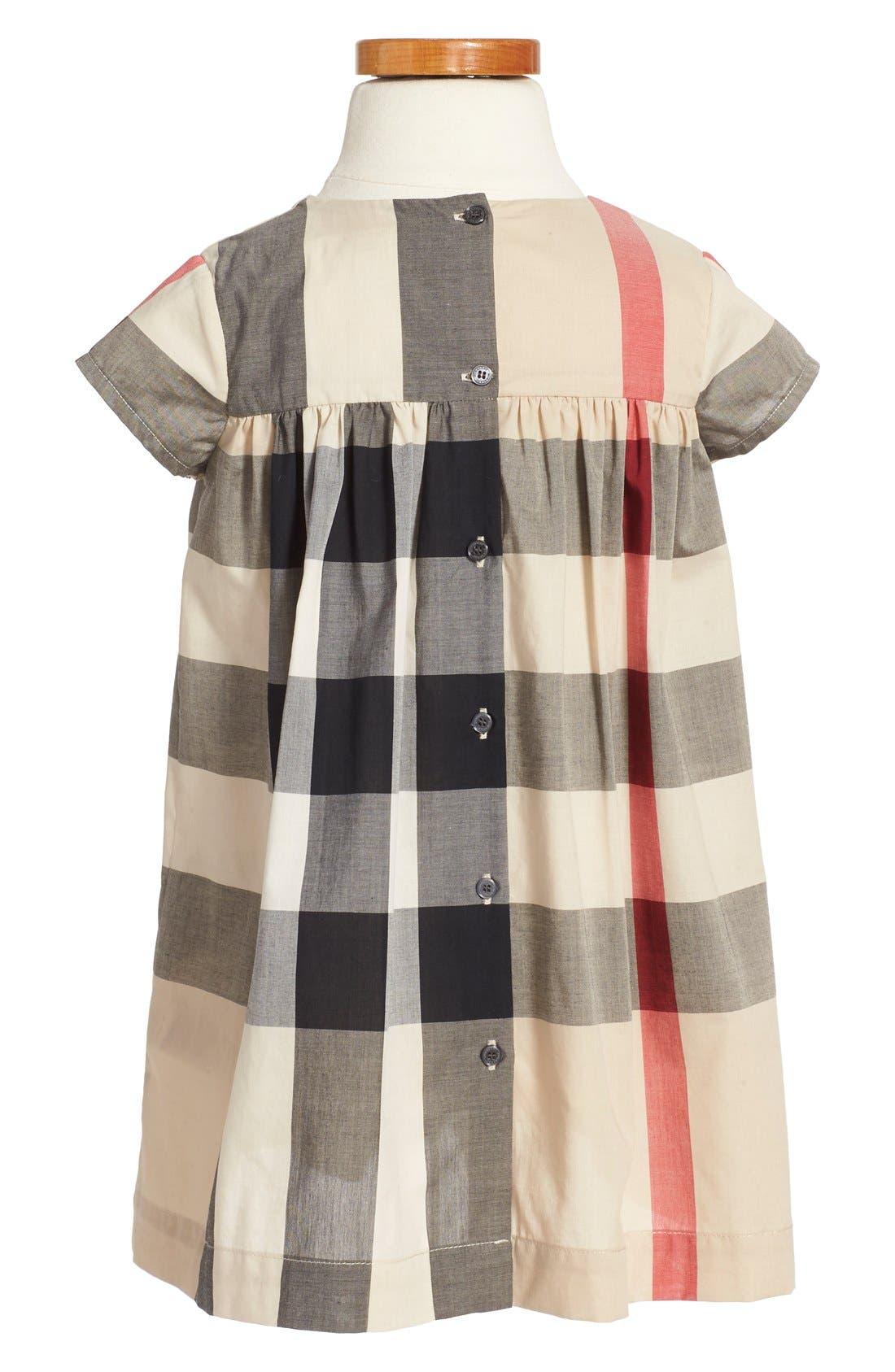 Alternate Image 2  - Burberry 'Ariadne' Check Woven Dress (Toddler Girls)