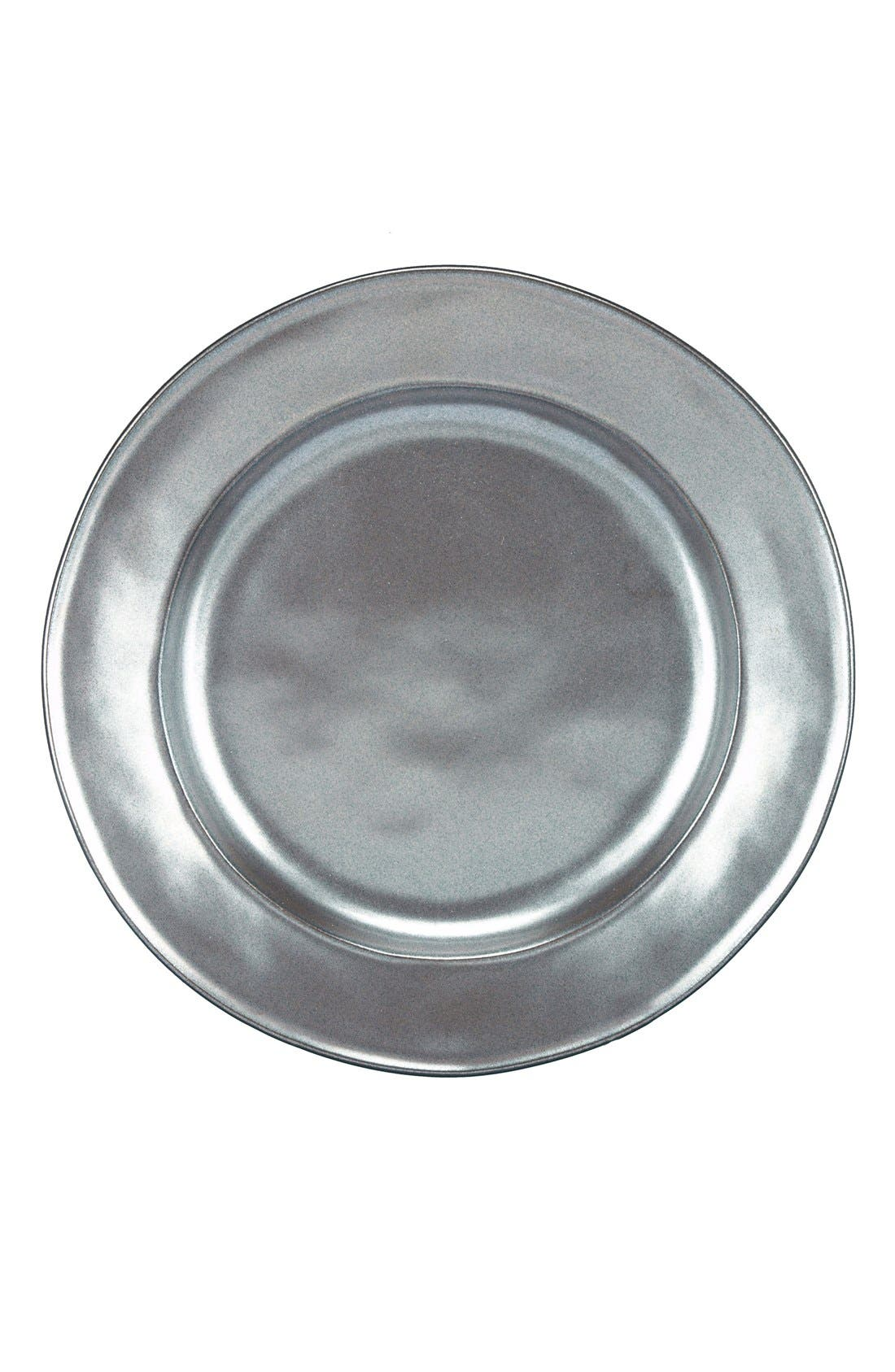 'Pewter' Ceramic Salad Plate,                         Main,                         color, Pewter