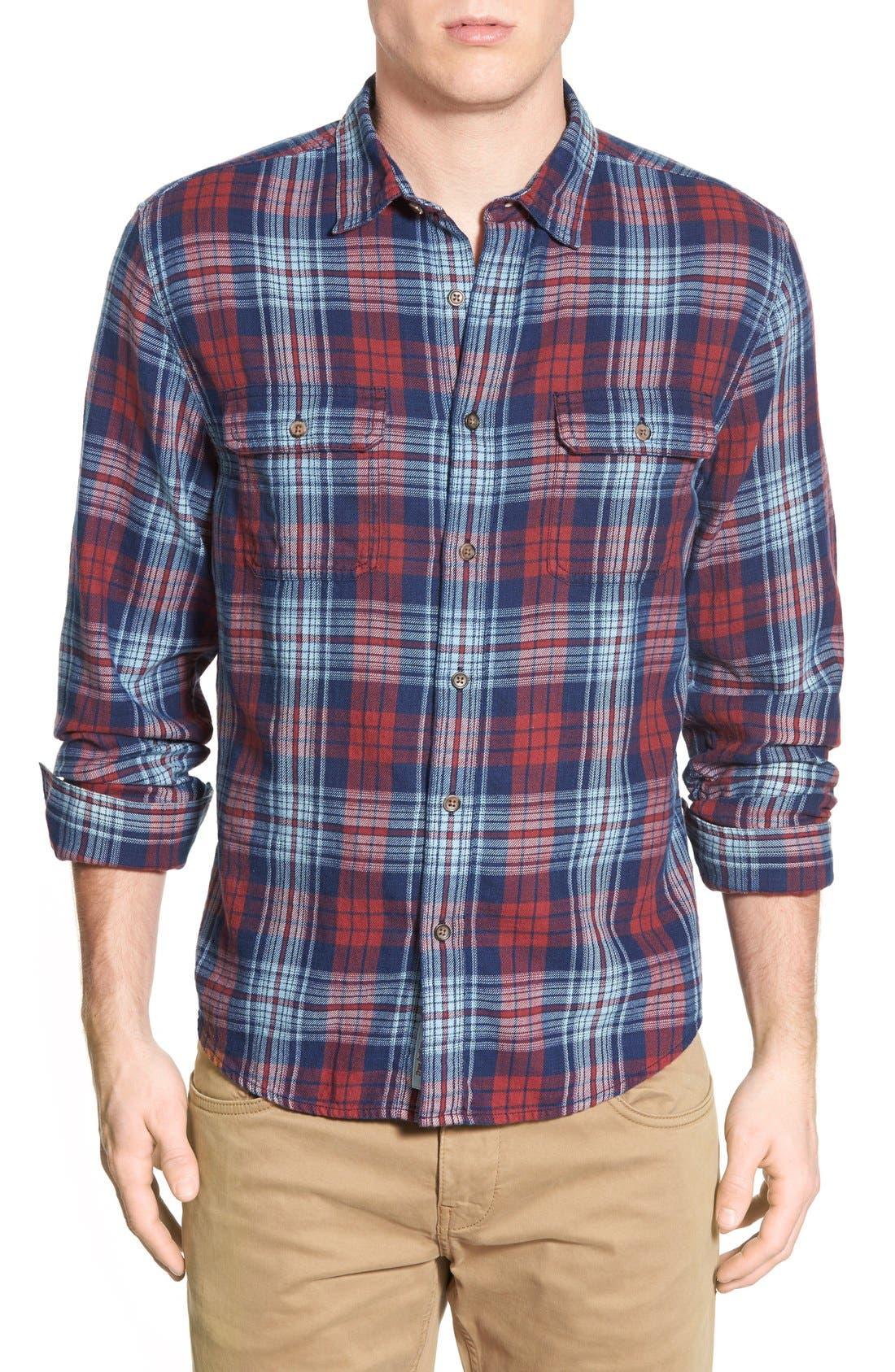 LUCKY BRAND Jon Plaid Twill Work Shirt