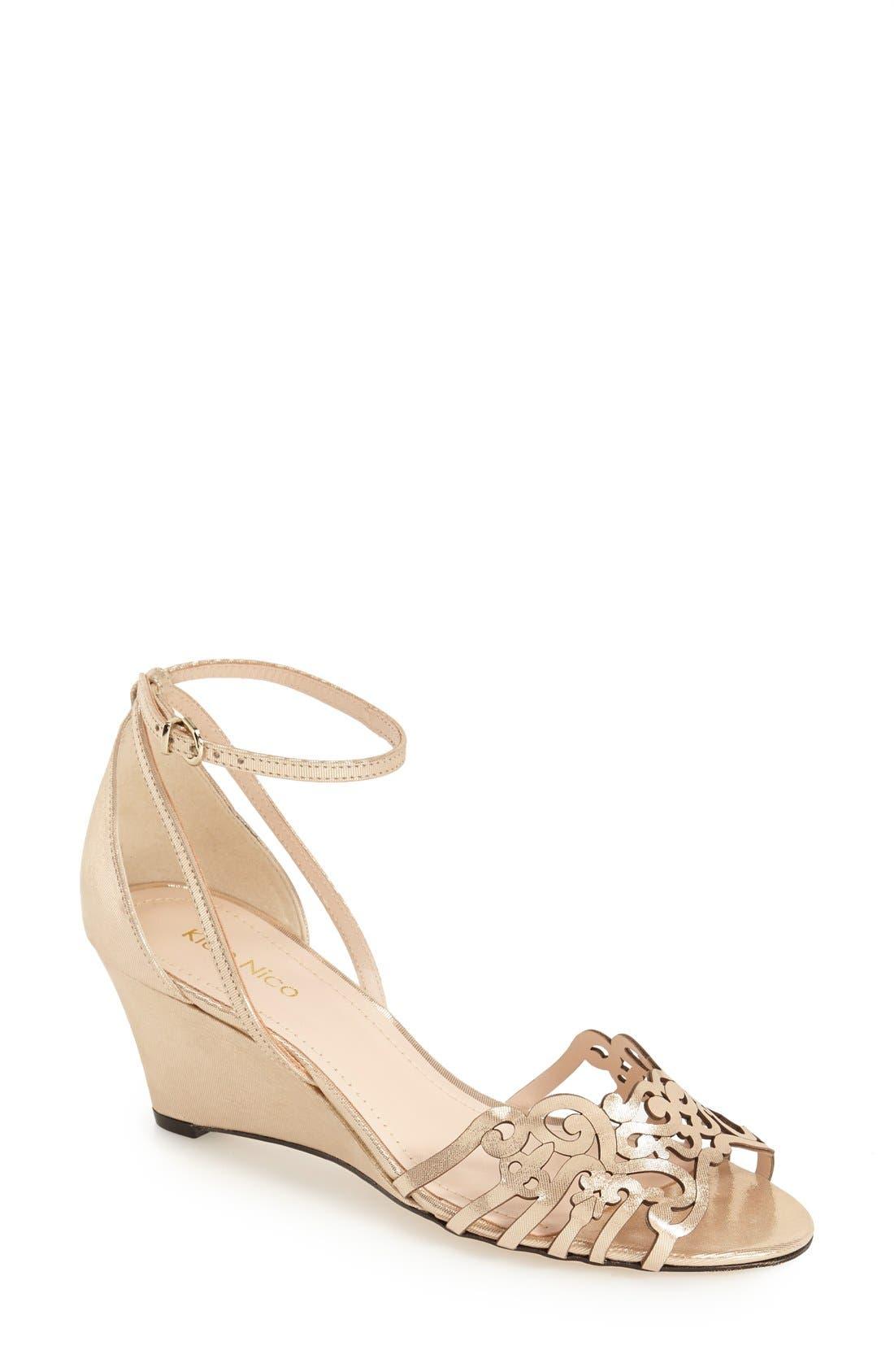Klub Nico 'Kingston' Ankle Strap Wedge Sandal (Women)
