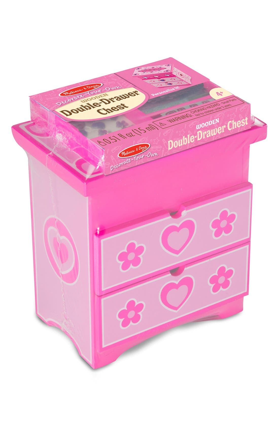 'Decorate Your Own' Double Drawer Chest,                             Main thumbnail 1, color,                             Pink