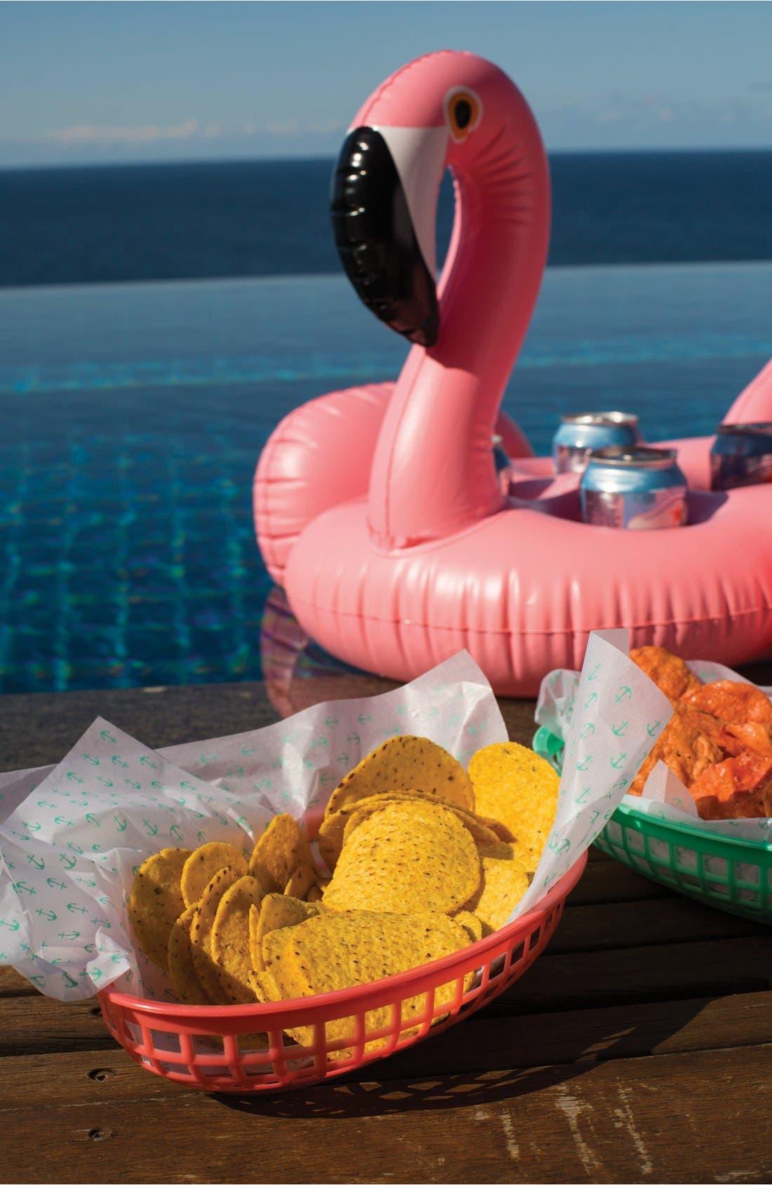 Inflatable Drink Holder Pool Float,                             Alternate thumbnail 6, color,                             Flamingo