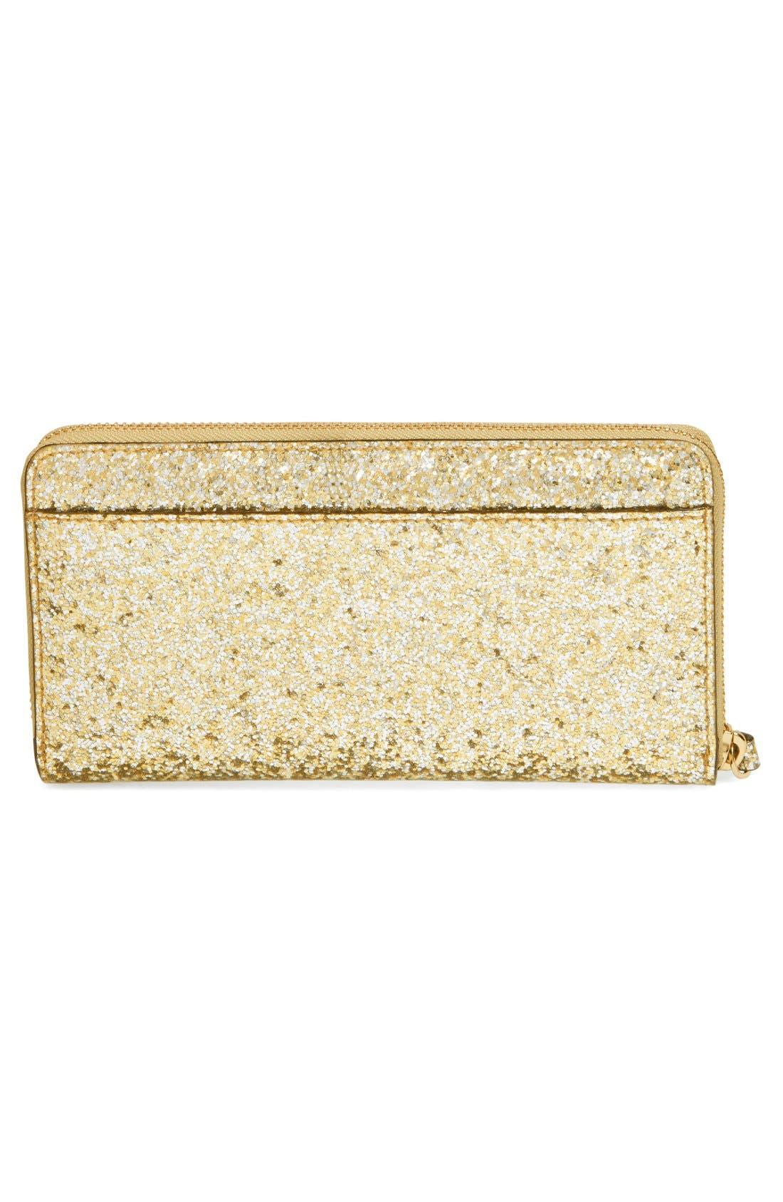 Alternate Image 3  - kate spade new york 'glitter bug - lacey' zip around wallet