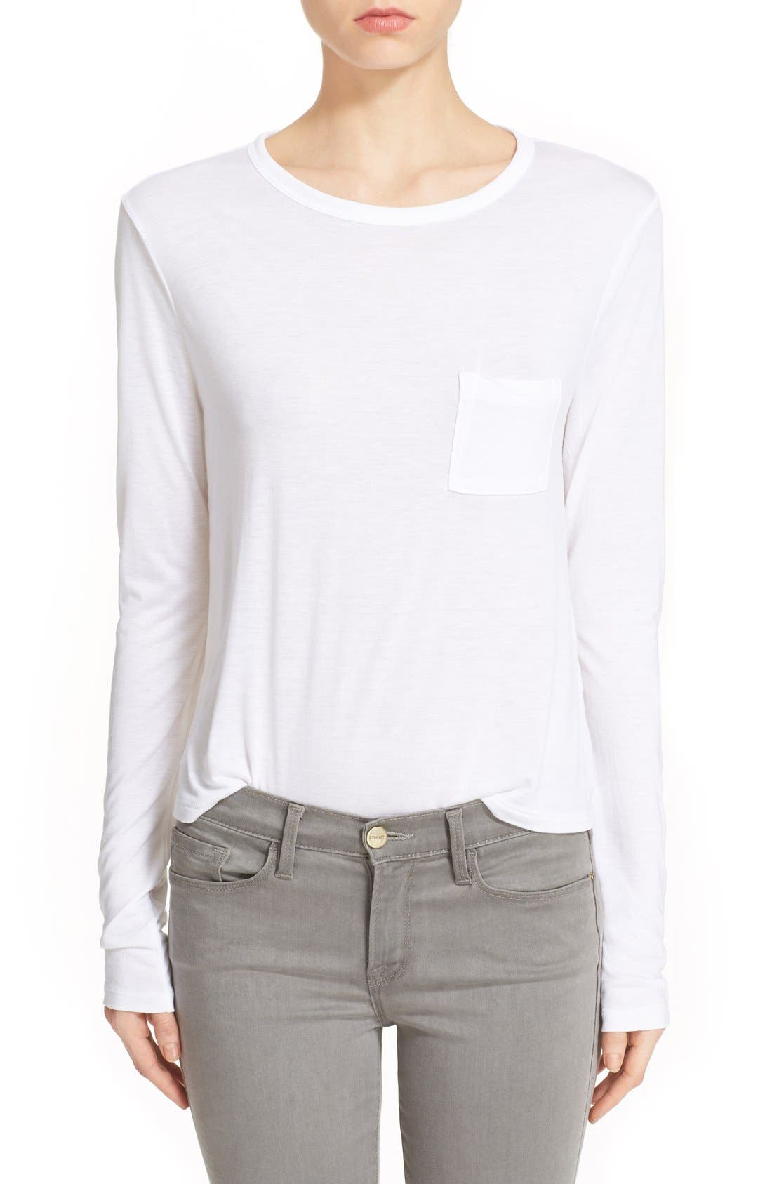 T by Alexander Wang Crop Long Sleeve Tee