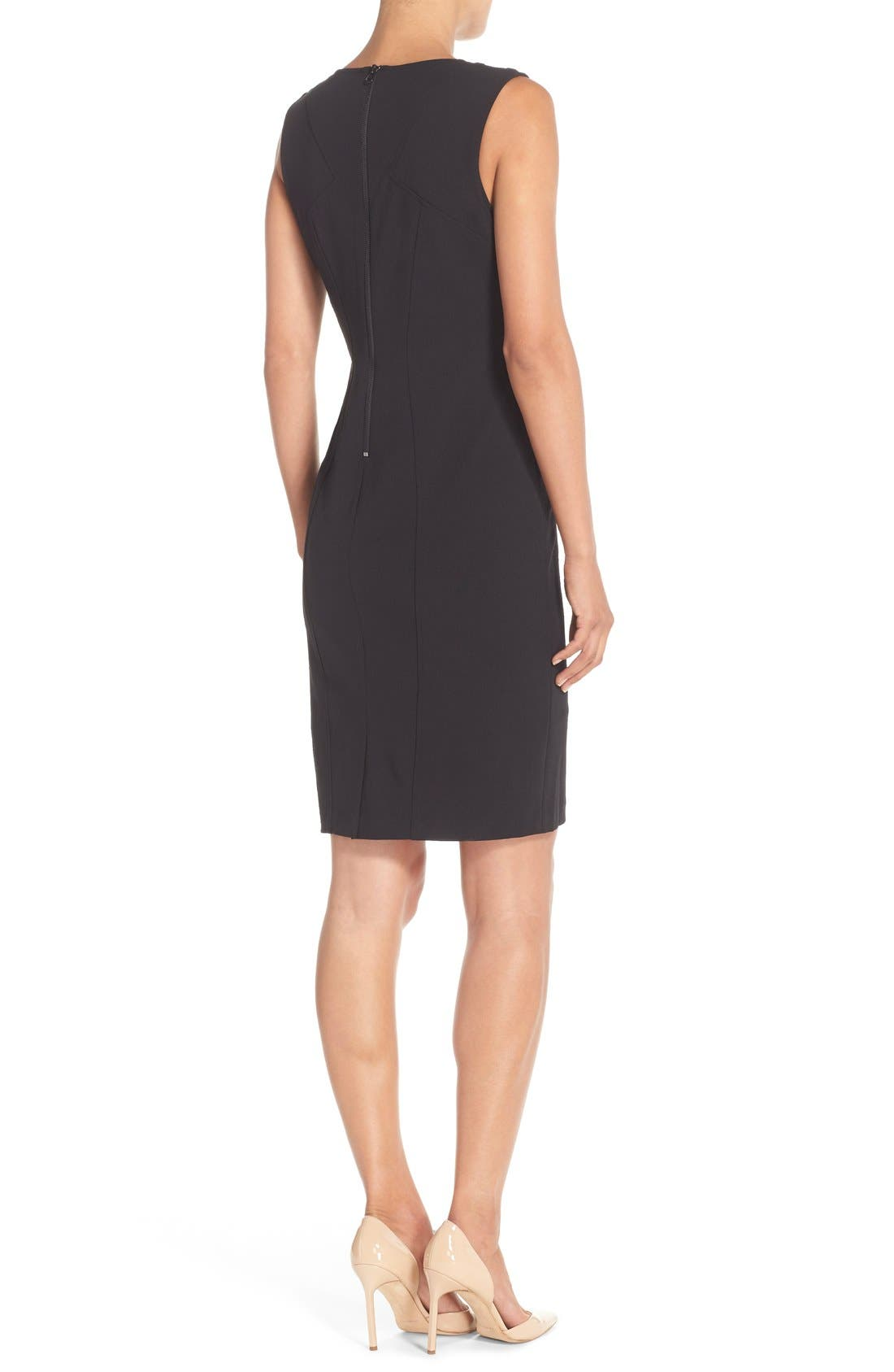Alternate Image 2  - NYDJ Cutout Shoulder Crepe Sheath Dress